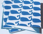 Nautical Whale Stationery Marine Blue Note Cards