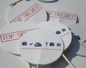 Secret Agent Cupcake Toppers