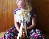 Custom Flowered Sweet Streamer Wands - Imaginitive Play, Weddings, Flower Girls, Dress Up, Birthdays