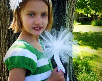 Fairy Fluff custom princess wand - Over 30 color choices -  for birthdays, parties, flower girls, photo prop, weddings, play