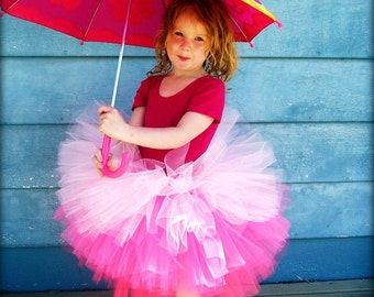 The Audrey - Custom Sewn and Full Tiered Tulle Skirt - Tiered Tutu - Your choice of colors - weddings, flower girl, ombre, photography