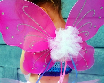 Custom Flora Fairy Wings - Butterfly Pixie Style - Coordinates with any tutu in my shop - your choice of colors