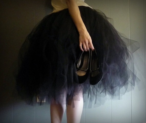 Fine Affair - Classic Style SEWN Tulle Tutu Skirt - Pick your colors and length - Long tulle skirt - For weddings, formals, special events