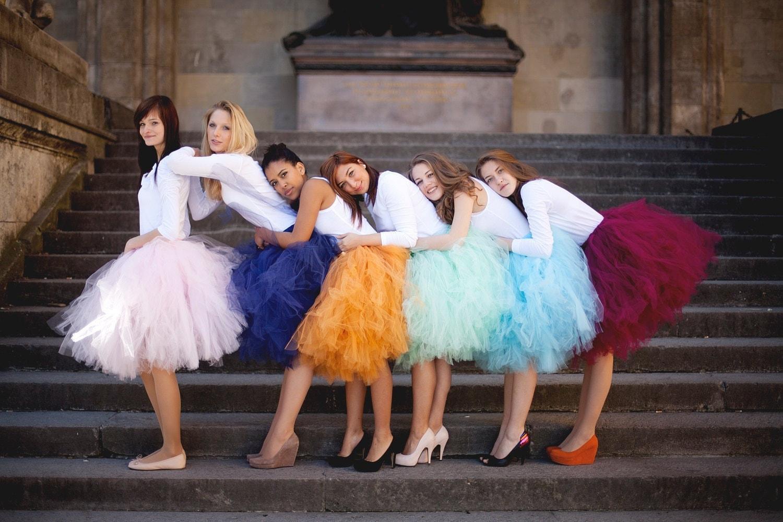 bridesmaids tulle bridesmaid skirt