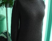 charcoal gray cashmere and wool turtle neck sweater - ready to ship