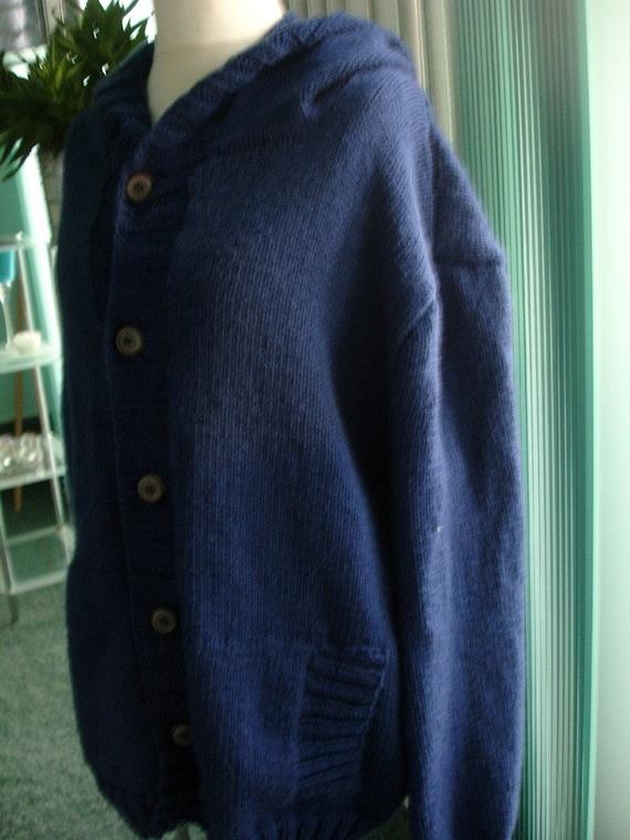 XXL blue cardigan for men - ready to ship