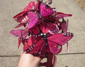 Pink, Magenta, and Red Butterfly Bouquet