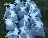 25 Lavender Filled White Sachets, Great for Wedding Favors and Baby Showers, (Can make any amount you'd like)