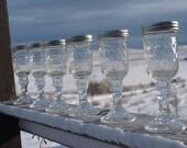 Cowboy Wine Glasses, Set of 6