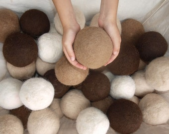 XL Alpaca Wool Felted Dryer Ball for Laundry or Play. Hypoallergenic.  Buy as many as you'd like from this listing,  From my alpacas
