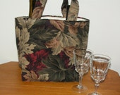 3 Pocket Wine Bottle Tote or All Purpose Pocket Tote