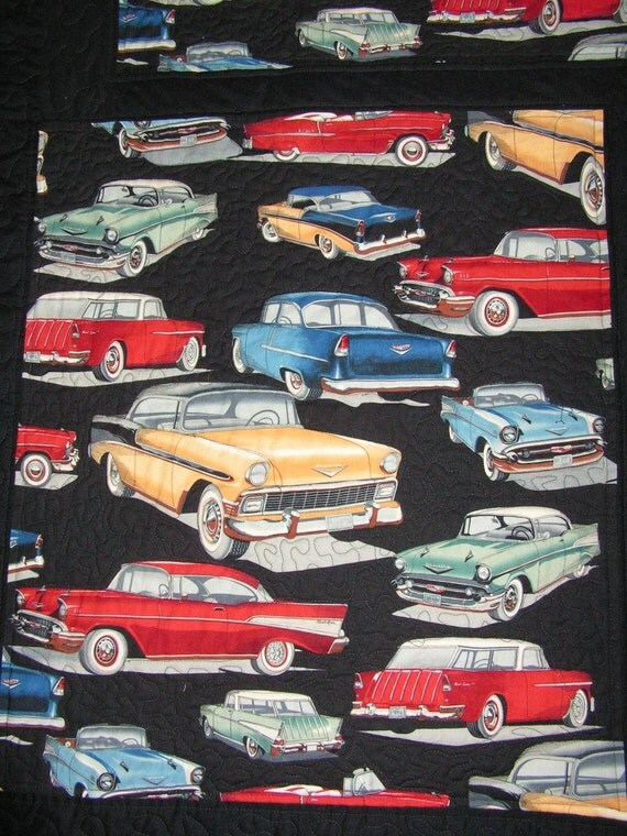 Classic Chevy Cars Quilt And Pillow