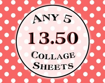 SPECIAL - Any 5 Collage Sheets for 13.50