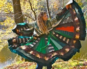 Custom Upcycled Sweater Coat with a Medieval Liripipe Hood and Bell Sleeves by SnugglePants- An Earth Without Maps