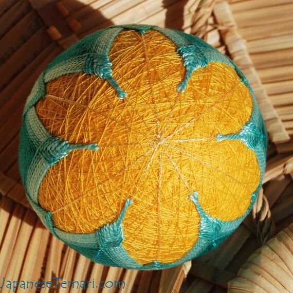 Buttercups ornament home decor Japanese temari