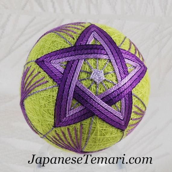 Purple Star ornament home decor Japanese temari SALE