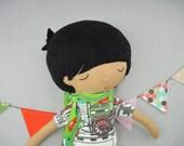 Sundance Boy - Russell. Handmade, Doll, Rag Doll, Children, Toys, Gift