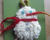 Recycled Wool Snowman Ornament