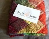 Hand-Knit Entrelac Scarf