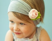 petite rose SNUGARS headband baby toddler infant newborn girls head band in