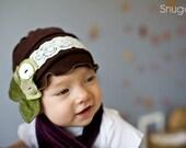 Sweet Pea Poppies SNUGARS cloche hat cap beanie headband infant toddler girls newborn