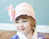 Dreamy Pink Snugars hat cap beanie infant toddler girls newborn headband- Classic Snugar
