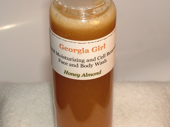 Natural Moisturizing and Cell Renewing Face and Body Wash, Honey Almond