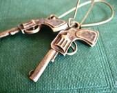 Cowgirl Earrings, Wild West Gunslinger Jewelry.