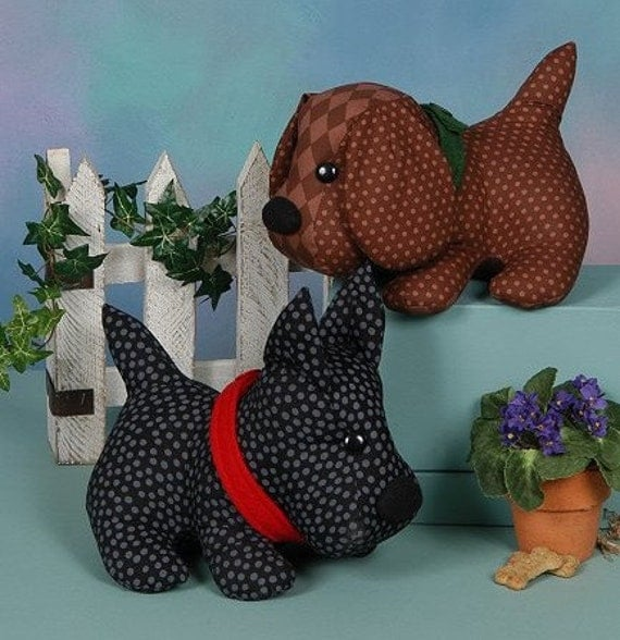 Toy Dog Sewing Pattern Spot And Barney Stuffed By Patterns4you