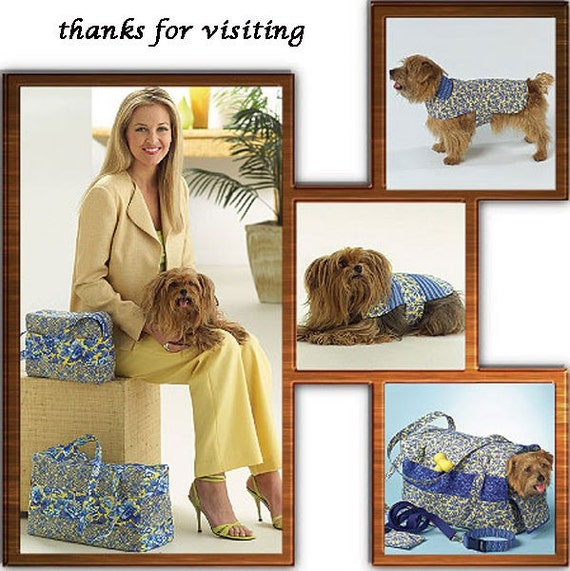 Dog Carrier Sewing Pattern Dogs Tote Bag Coat By Patterns4you
