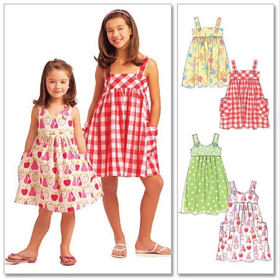 Girls SUN DRESS Sewing Pattern Summer Sun Dresses by patterns4you