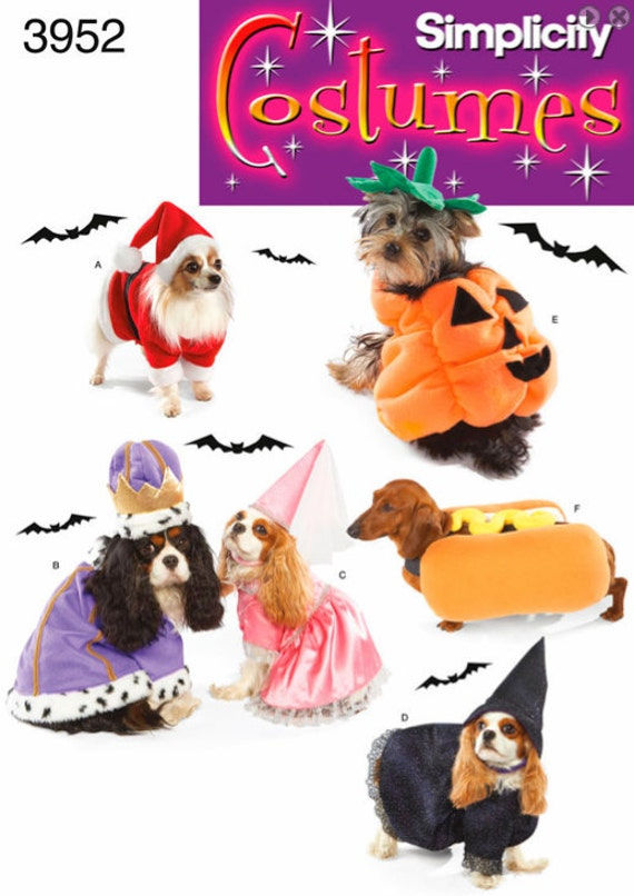 DOG Halloween Costume Sewing Pattern Pumpkin Hot Dog Witch