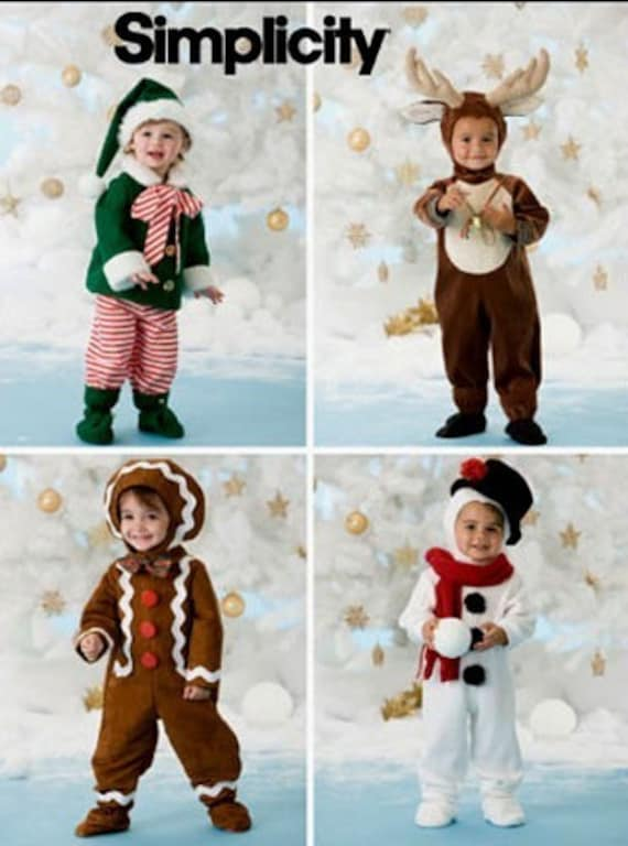 Toddler Christmas Costume Sewing Pattern Elf Snowman