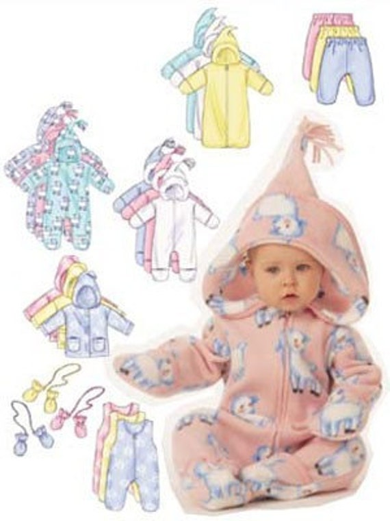 Baby winter sewing pattern snowsuit bunting by patterns4you