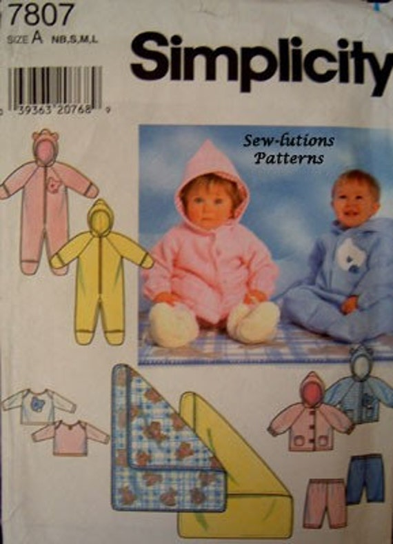 Clearance baby sewing pattern snowsuit bunting by patterns4you