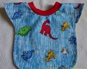 Baby / Toddler Reversible Pull-Over Bib, Dinosaurs