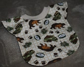 The Great Outdoors-  Baby/Toddler Reversible, Pull-over Bib
