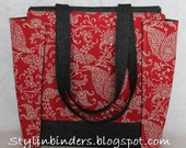 Whimsical Red Stylin' Binder 3 inch