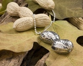 Sterling Silver Peanut Pendant- One of a Kind Natural Pendant - Autumn Time-Reserved for Lily -