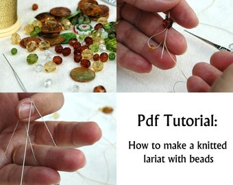Crochet Lariat Tutorial , Crochet Lariat with bead pattern -How to make a crochet lariat Crochet Lariat Pattern Pdf tutorial for beginners