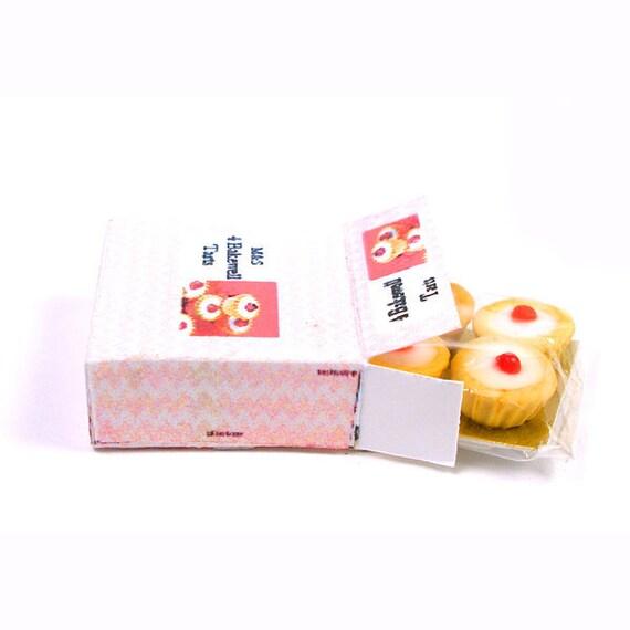 Box of Bakewell Tarts - Dollhouse Miniature Food Handmade