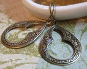 Marrakesh - Ornate Antiqued Brass Earrings