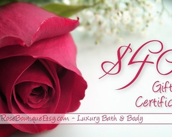 40 Dollar Bath and Body Gift Certificate