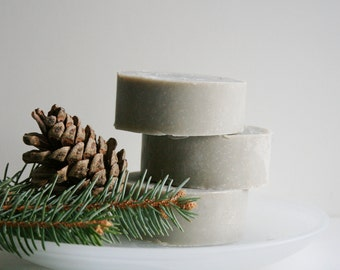 Fresh Pine Handmade Shaving Soap Bar - Essential Oil Shaving Soap - Natural Soap