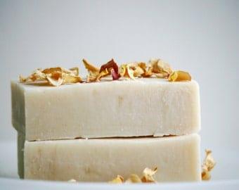 English Rose Soap Bar - Natural Rose Soap - Natural Soap Bar