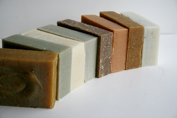 Handmade Soap 8 Pack, Essential Oil Soaps, Natural Soap, Cold Process Soap, Vegan Soap