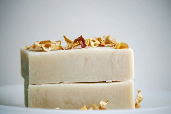 English Rose Soap Bar - Natural Rose Soap - Natural Soap Bar