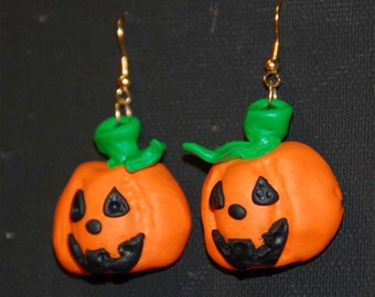 Earrings, happy pumpkins