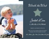 Simple Adoption Announcement for Boys -- Printable Digital File