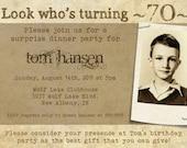 Milestone Birthday Invitation for Adults or Teens -- 5x7 Digital File -- Print It Yourself